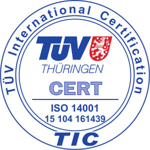 ISO 14001 - TUV international certification
