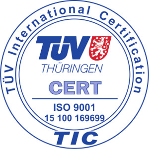 ISO 9001 - TUV international certification